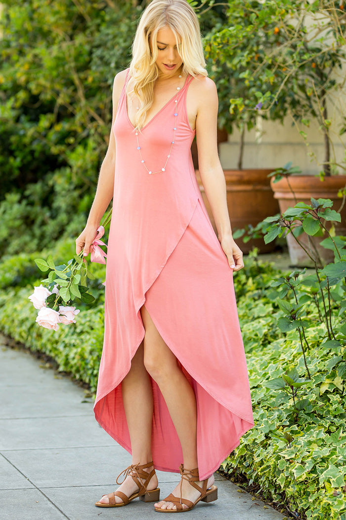 Solid Maxi Dress : Cinnamon