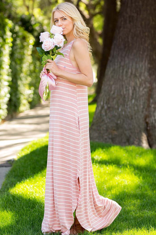 Casual Stripe Maxi Dress - maxi - GOZON
