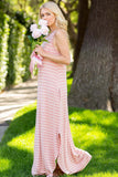 Casual Stripe Maxi Dress