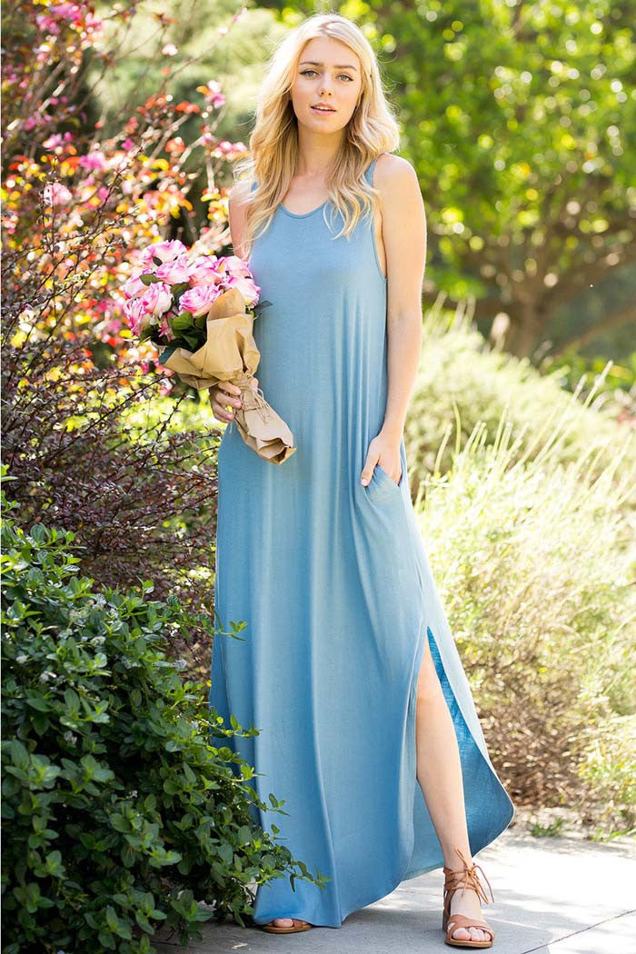 Simple Casual Maxi Dress - maxi - GOZON