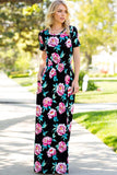 Delightful Floral Dress - maxi - GOZON