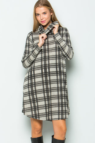 Kristin Oversize Plaid Top : Hunter Green/Black