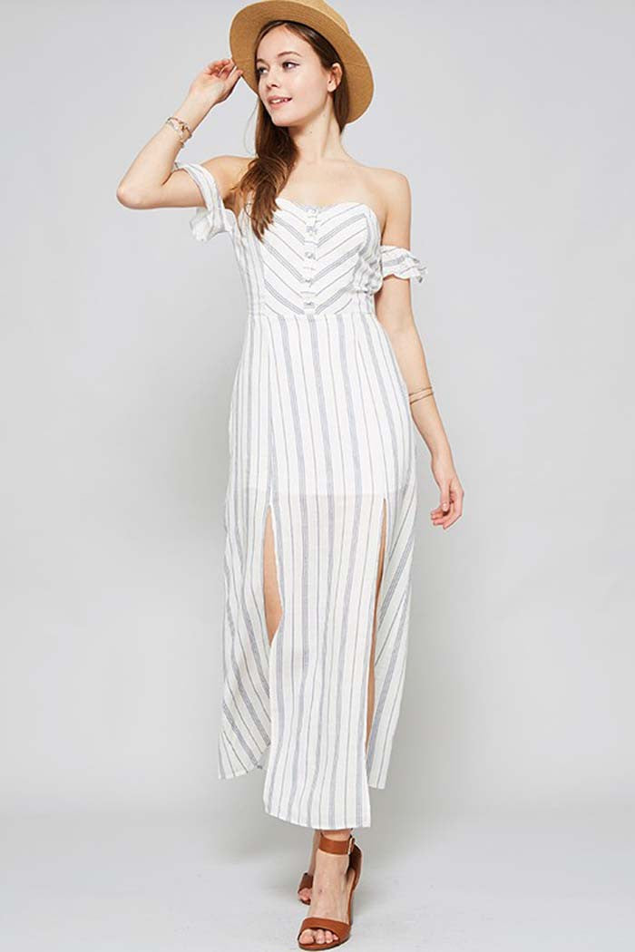 Gorgeous Slit Maxi Dress - maxi - GOZON