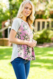 Sweet Floral Top - Shirts - GOZON