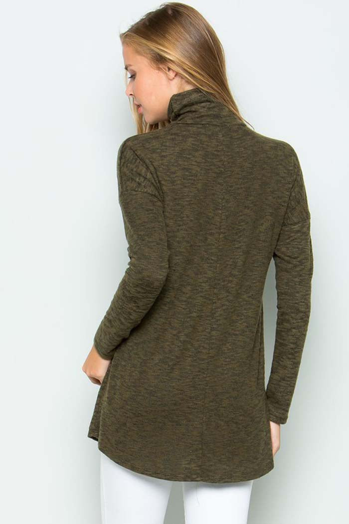 Brushed Hacci Sweater Top : Olive