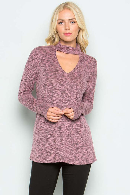 Brushed Hacci Sweater Top