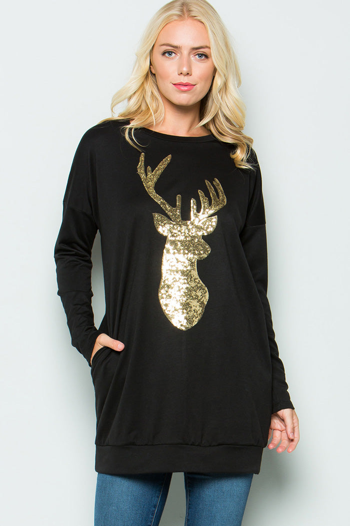 Rudolph Tunic Top : Olive