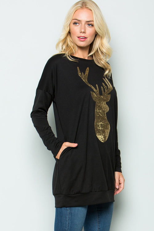 Rudolph Tunic Top : Black