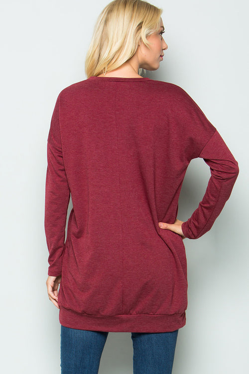 Rudolph Tunic Top : Burgundy