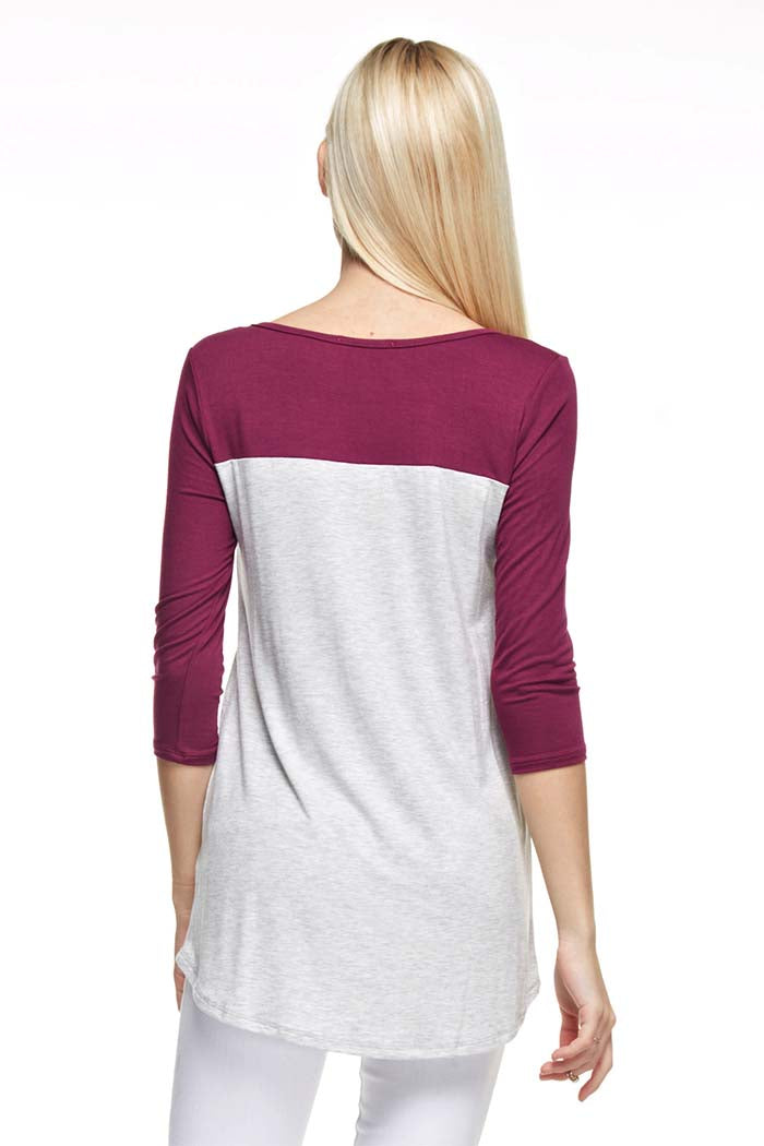 Color Block Solid Top