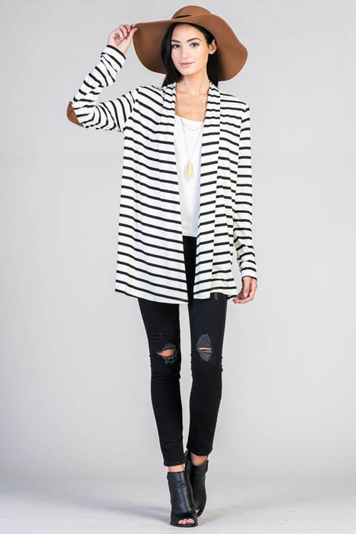 Striped Modal Cardigan