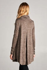 Kelly Cowl Neck Tunic Top : Mocha