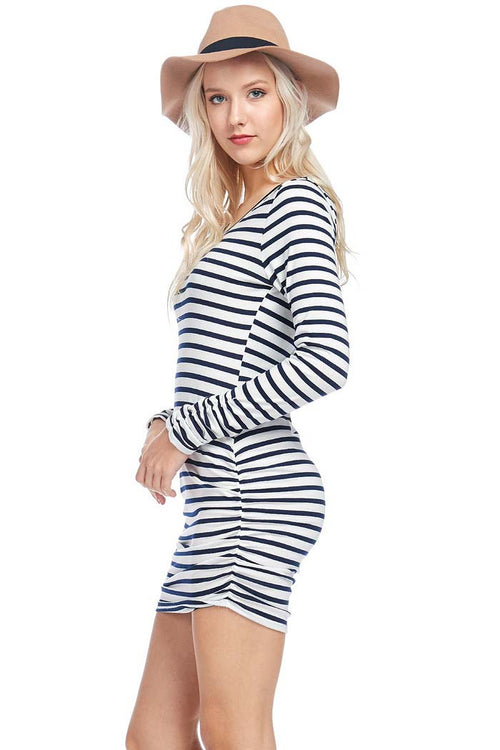 Striped Fitted Mini - mini - GOZON