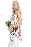 Floral Sleeveless Top - Shirts - GOZON