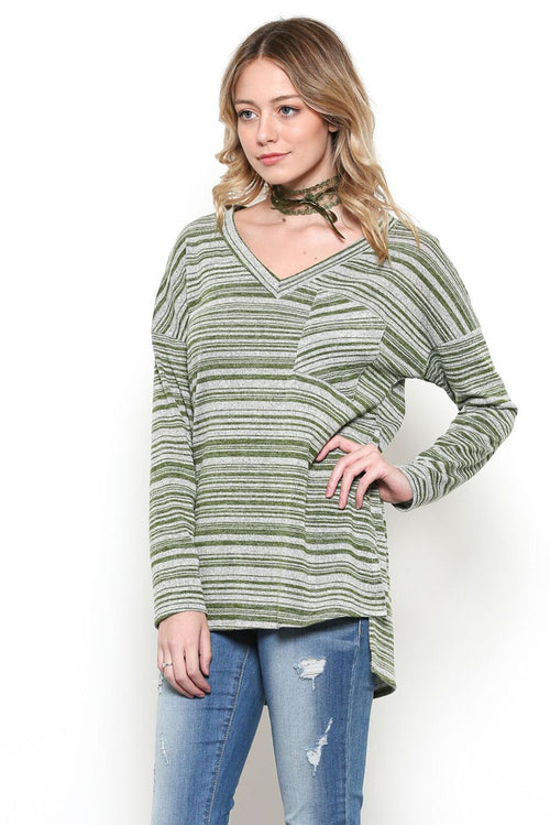 Taylor Stripe Shirt : Green