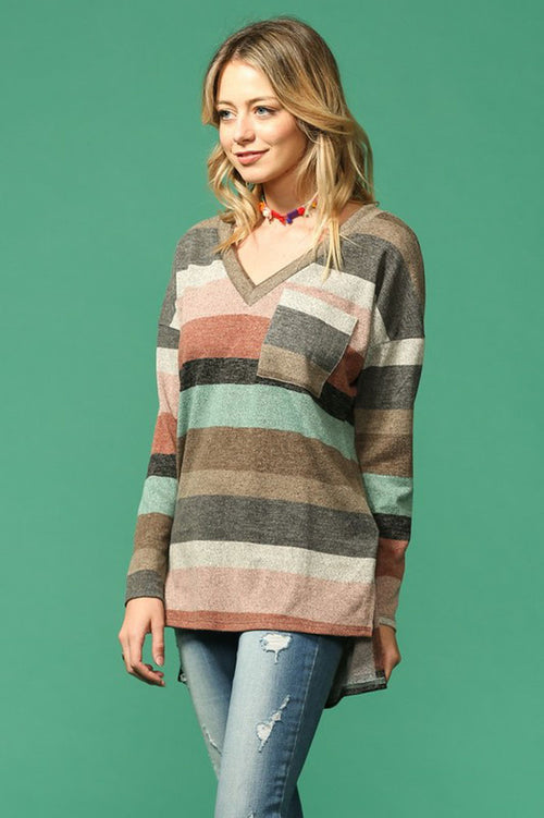 Harriet Multi Stripe Tunic : Blush