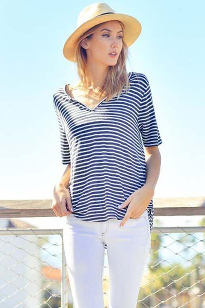 Casual Stripe Top - Shirts - GOZON