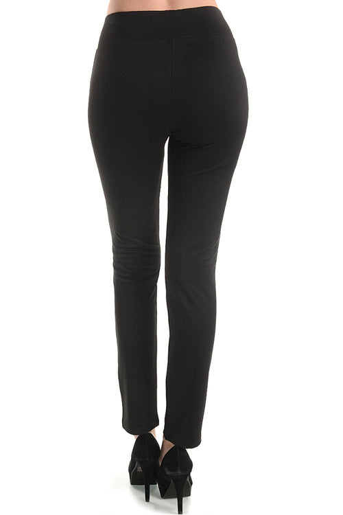 Black Stretchy Leggings - pants - GOZON