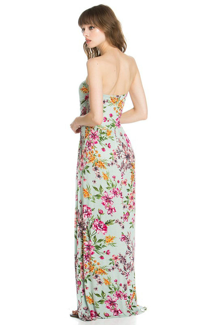Floral Tube Maxi Dress - Maxi - GOZON