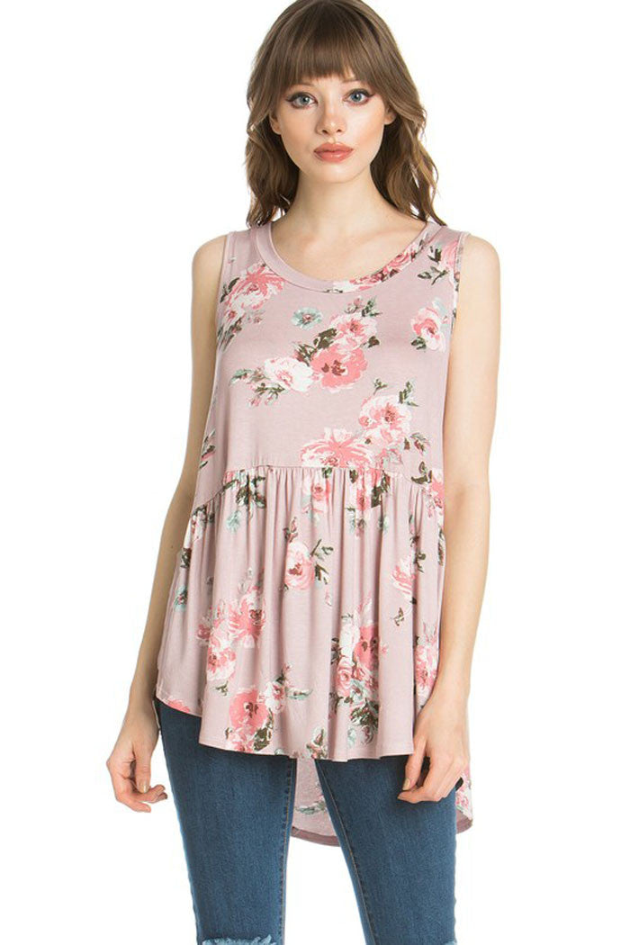 Daily Babydoll Floral Top - shirts - GOZON