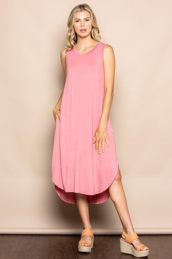 Daily High-Low Midi Dress - midi - GOZON