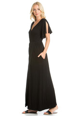 Solid Slit Maxi Dress - maxi - GOZON