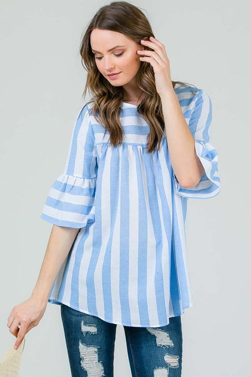 Mary Comfy Tunic Top : Blue
