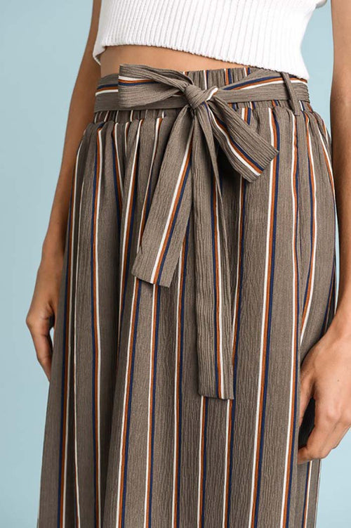 Helen Stripe Trousers : Brown