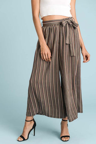 Aubree Plaid Ruffled Jumpsuits : Beige