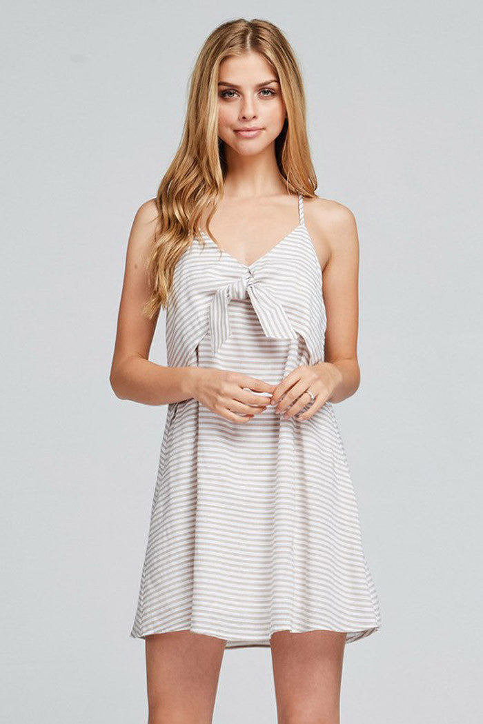 Layered Stripe Dress - Mini - GOZON