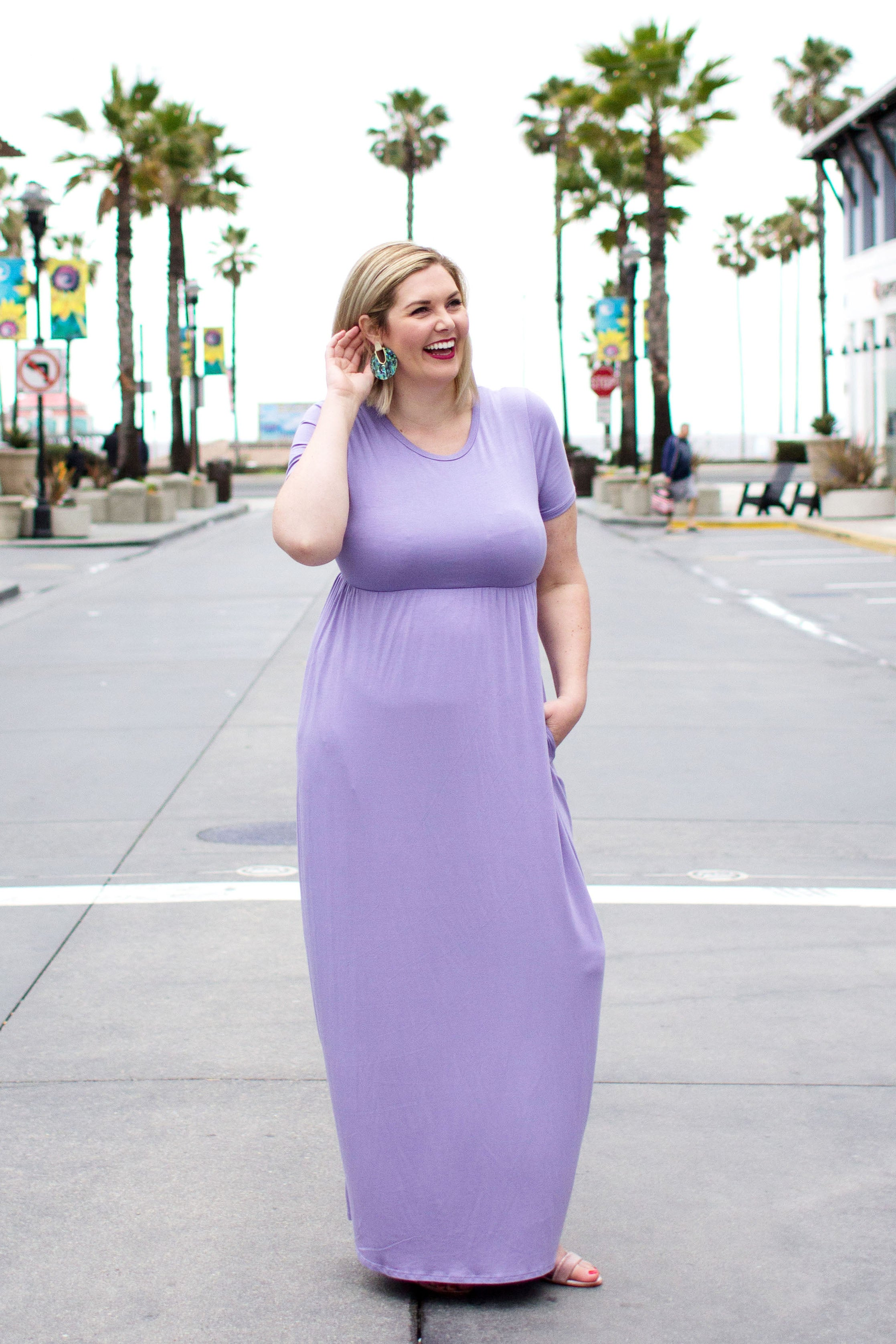 Solid Daily Maxi Dress Plus : Lavender