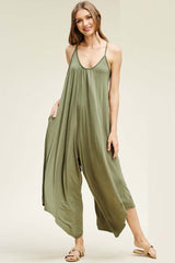 Rebecca Strap Jumpsuits : Light Olive