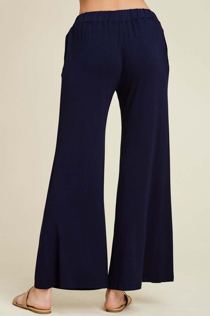 Izzy Lounging Wide Pants : Navy