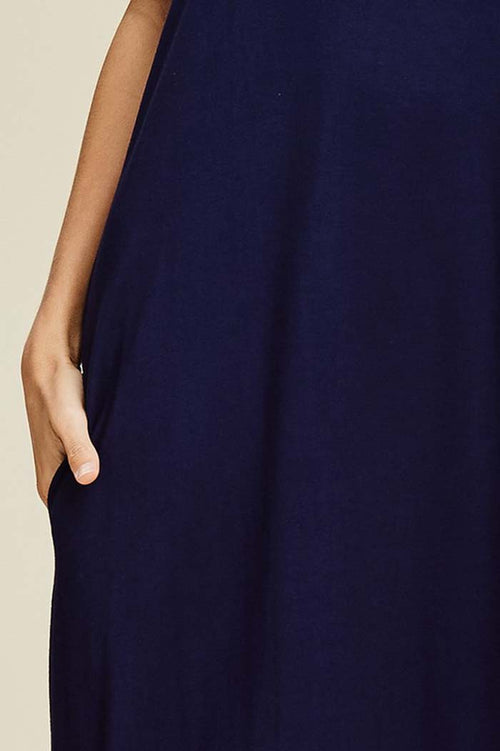 Ashley Essential Maxi Dress : Navy