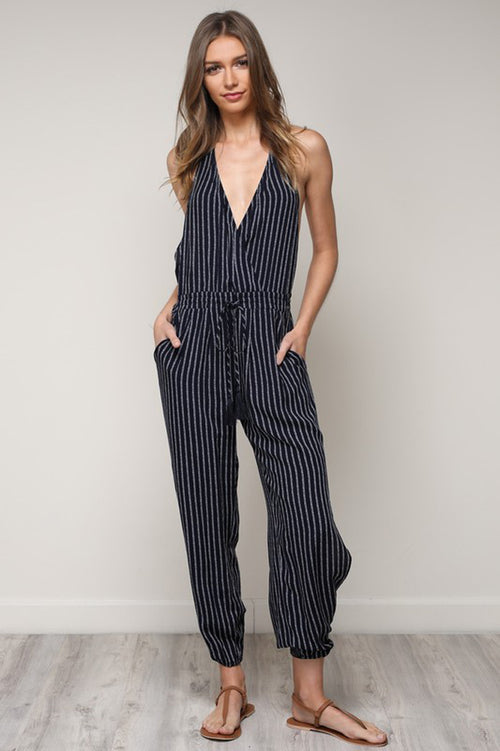 Blake Halter Neck Jumpsuits : Navy