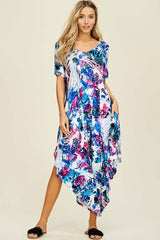 Emery Watercolor Flare Jumpsuit : Royal.