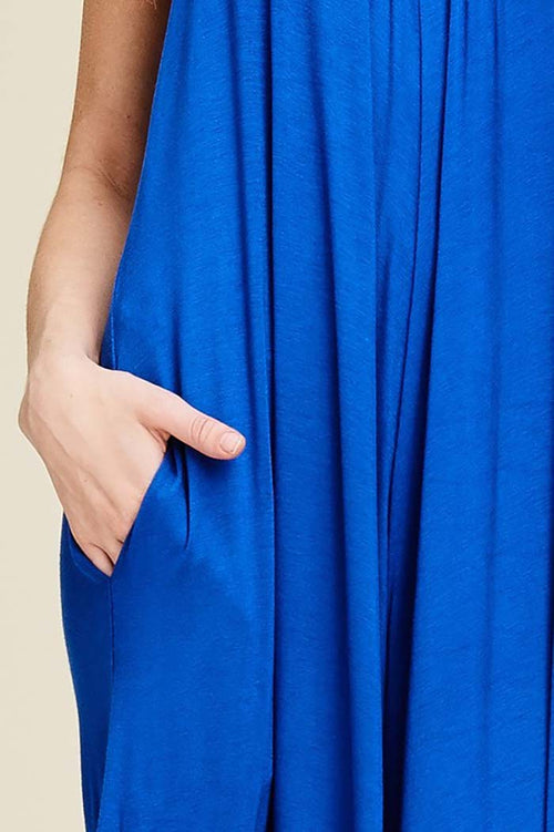 Rebecca Strap Jumpsuits : Royal Blue