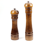 "Solid Wooden Salt & Pepper Mill with Strong Adjustable Ceramic Grinder 8"" 10"" - Garden Oasis"
