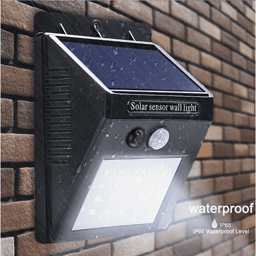 LED Solar Powered Waterproof Wall Light with Motion Sensor