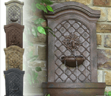 Rosette Leaf Outdoor Wall Fountain - Garden Oasis