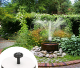 Solar Power Fountain Makes Delightful Home Garden Decoration
