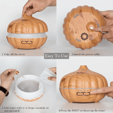 Wood Grain Essential Oil Diffuser - Garden Oasis