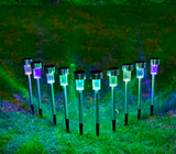 10 x Waterproof Solar Powered LED Outdoor Garden Lights - Garden Oasis