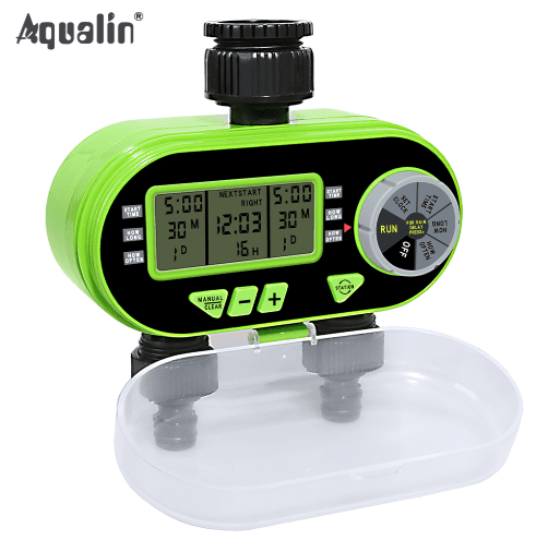 Two Outlet Digital Garden Electronic Water Timer Solenoid Valve Irrigation Controller for Garden - Garden Oasis