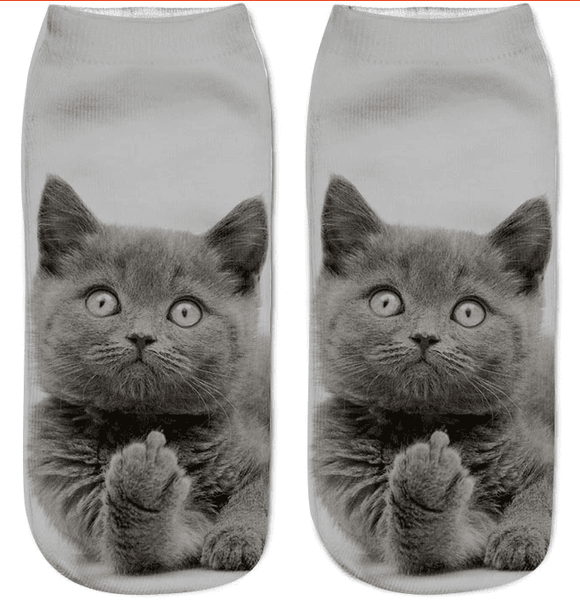 Women Feline Fun Socks - Garden Oasis