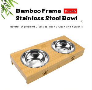 Dog Or Cat Double Stainless Steel Bowls - Garden Oasis