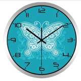 Modern Blue Butterfly Beautiful Wall Clock