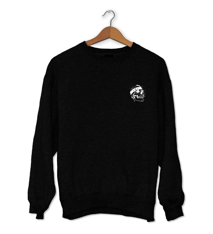 Skull Crew Neck Jumper Black