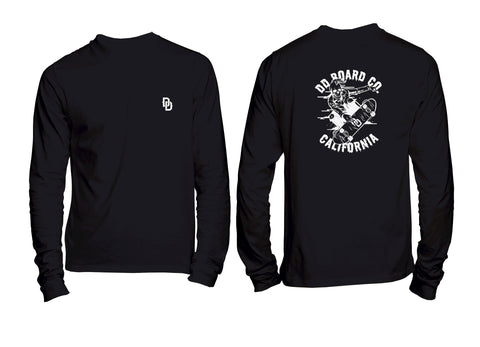 Skull Skater Long Sleeve Tee Black