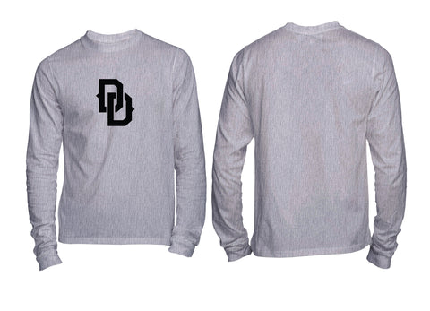 DD Chest Crest Long Sleeve Tee Black Grey